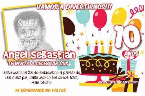 Birthday invitations with photo printable free