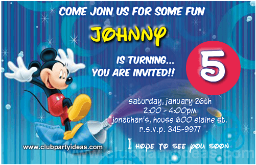 Mickey Mouse painter birthday invitations free