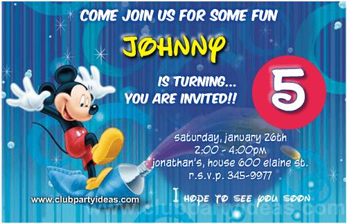 Mickey Mouse painter birthday invitations free