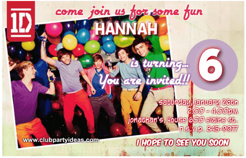one direction birthday invitations free printing, Printable invitations