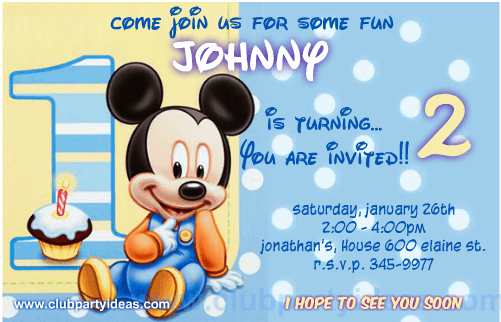 photograph relating to Free Printable Mickey Mouse 1st Birthday Invitations called The excellent Little one mickey mouse invites cost-free Down load IT By now