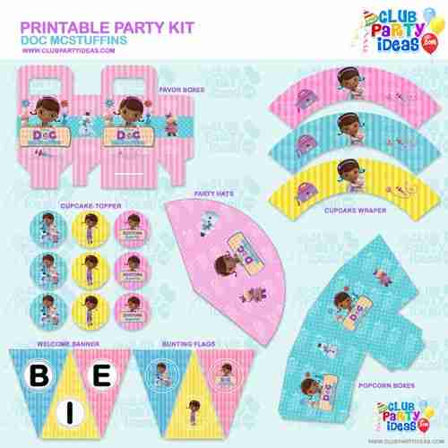 Doc Mcstuffins Printable Party Kit