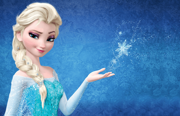 Elsa background invitation
