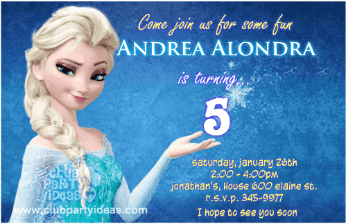 Frozen Birthday Invitations Free Printable