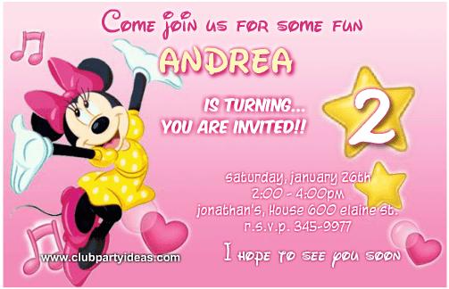 minnie mouse invitations templates
