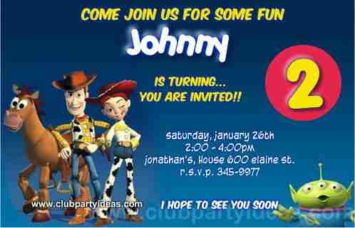 Toy Story Sheriff Woody birthday Invitations Free Printable