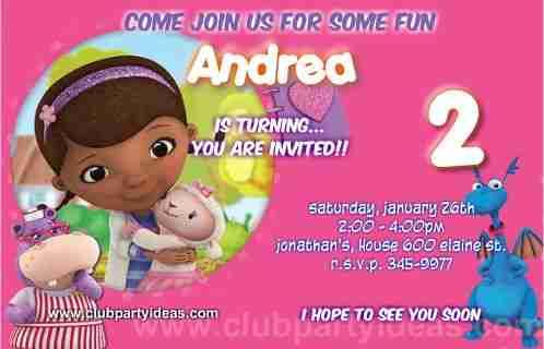 Doc mcstuffins printable birthday party invitations filmwisefo
