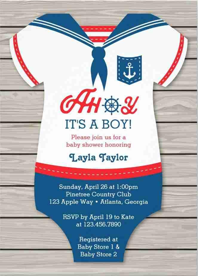 baby shower invitations nautical