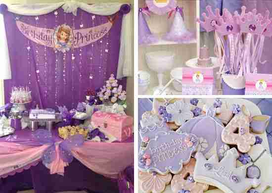 Princess Sofia Birthday Party Decoration Ideas