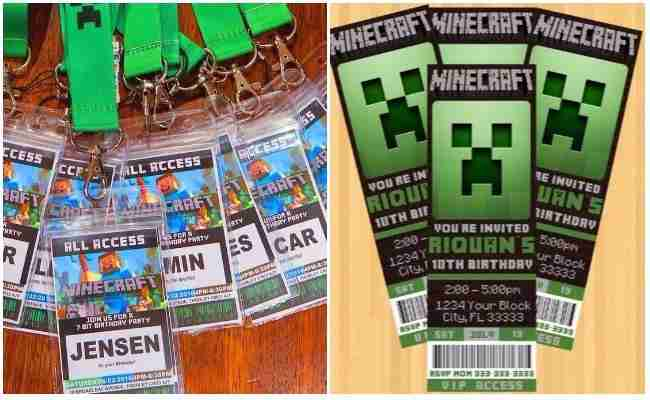 image about Printable Minecraft Birthday Invitations named Minecraft birthday Invites Absolutely free Printable