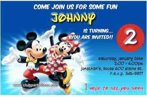 Minnie and Mickey Mouse on the ice birthday Invitations