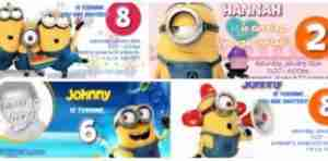 photo relating to Free Printable Minion Invitations identify Birthday Invites ® \u003e\u003e Cost-free templates【2017】