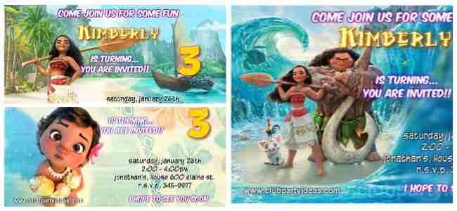 Moana Birthday Invitations Free Printable2017