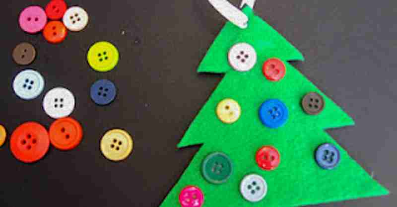 Christmas Tree Ornament whit buttons