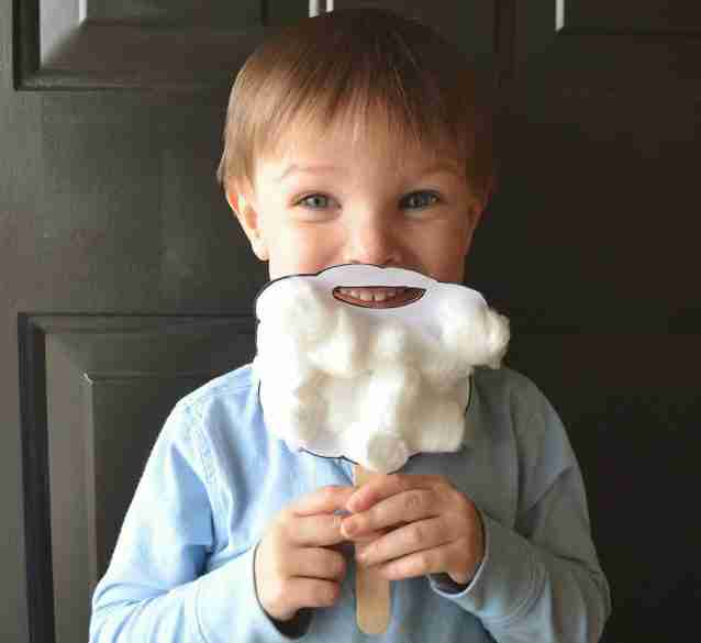 santa beard Preschooler Craft